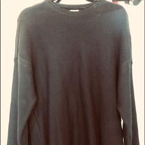 Zara Textured Navy Oversized Sweater